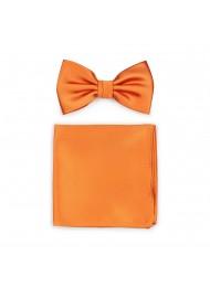Persimmon Orange Bowtie Set