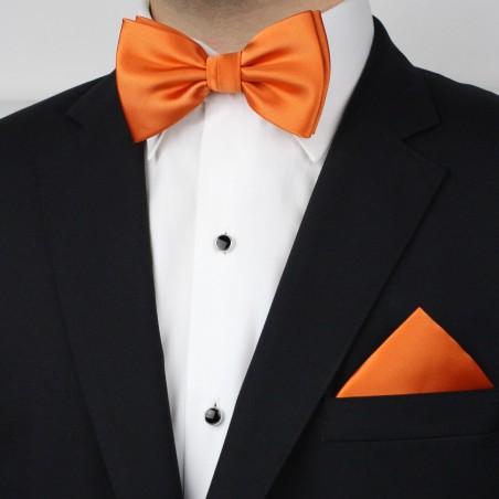 Persimmon Orange Bowtie Set Styled
