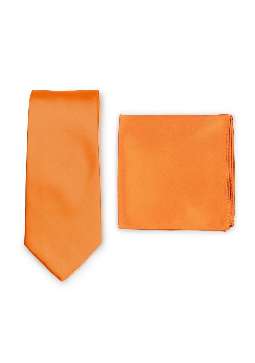Persimmon Orange Necktie Set