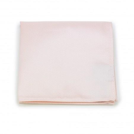 Peach Blush Pocket Square in Matte Finish