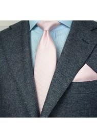 Peach Blush Tie Set in Matte Finish Styled
