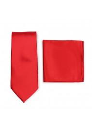 Bright Red Necktie Set