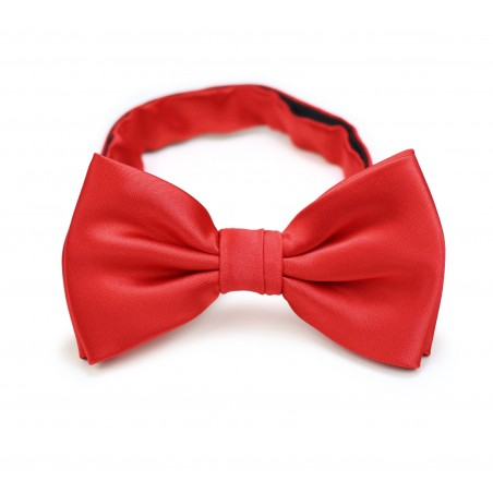 Bright Red Mens Bow Tie