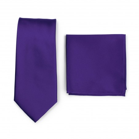 Regency Purple Tie Set