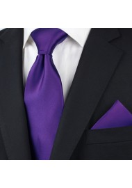 Regency Purple Tie Set Styled