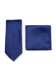 Royal Blue Necktie Set