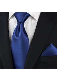 Royal Blue Necktie Set Styled