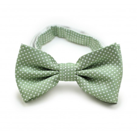 Sage Bowtie with Pin Dots