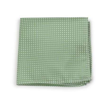 Sage Hanky with Pin Dots