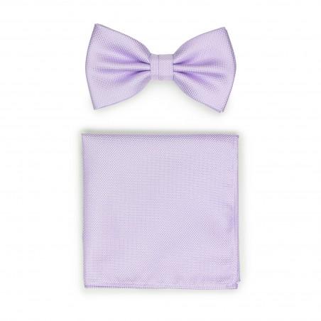 Lavender BowTie Set in Matte Weave