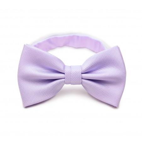 Lavender Bow Tie in Matte Weave