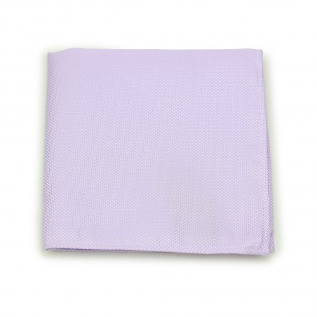 Lavender Pocket Square in Matte Weave