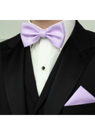 Lavender BowTie Set in Matte Weave Styled