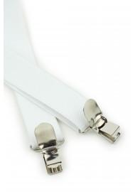 Bright White Elastic Suspenders Clips