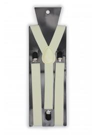 Elastic Band Suspenders in Champagne Cream Packaging