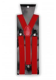 Mens Suspenders in Bright Red Packaging