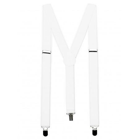 Bright White Elastic Suspenders