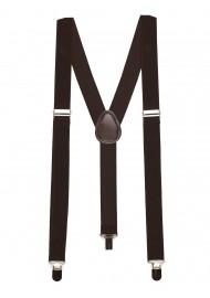 Elastic Mens Suspenders in Brown