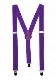 Mens Suspenders in Freesia Purple
