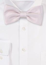 Satin Bow Tie in Blush