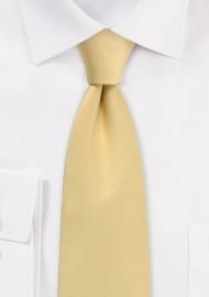 Golden Solid Satin Tie