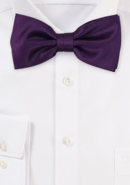 Satin Bow Tie in Berry