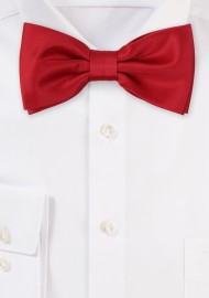 Satin Bow Tie in Cherry Red