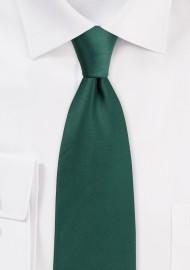 Hunter Green Satin Tie