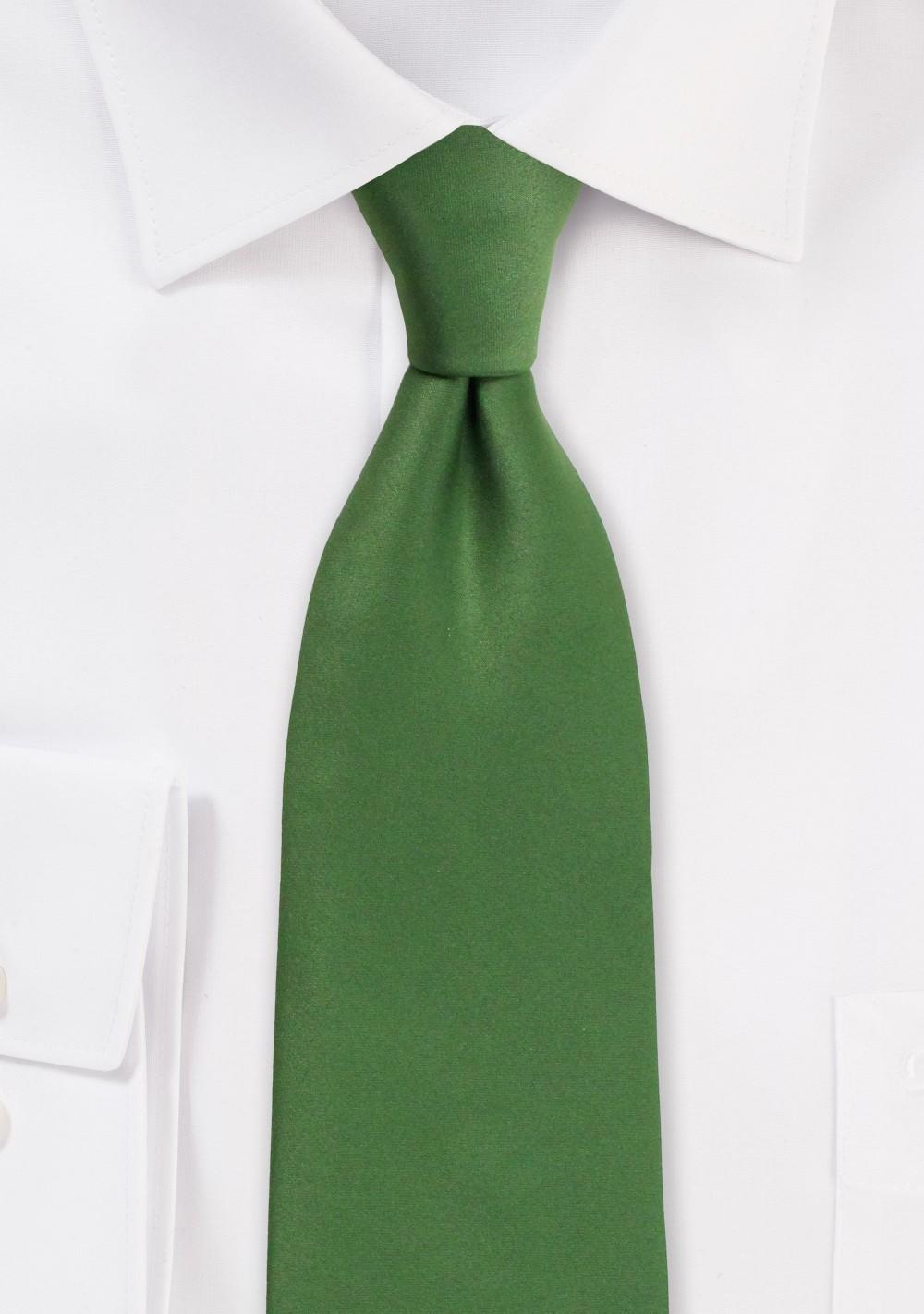 Satin Mens Tie in Moss Green