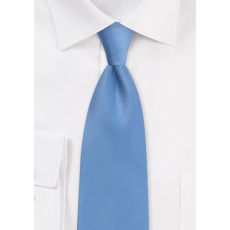 Satin Tie in Steel Blue
