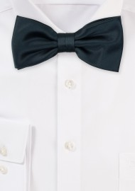 Satin Bow Tie in Charcoal