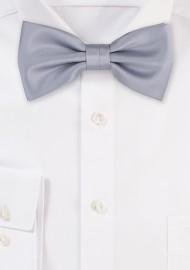 Shiny Silver Bow Tie
