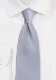 Satin Tie in Formal Silver
