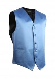 Steel Blue Formal Satin Vest