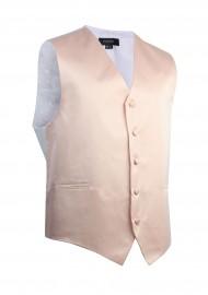Antique Blush Formal Satin Vest