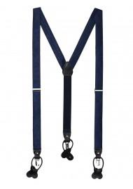 Midnight Navy Paisley Suspenders