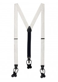 Ivory Paisley Suspenders