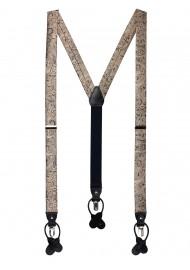 Elegant Paisley Suspenders in Bronze Gold