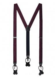 Claret Red Paisley Suspenders