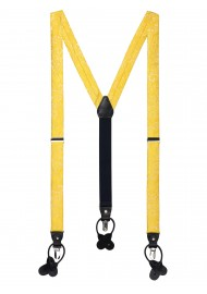 canary yellow paisley dress suspenders