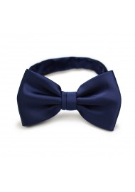 Dark Blue Bow Tie in Solid Color Pre-Tied bow Tie