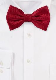 Bright Red Matte Bow Tie