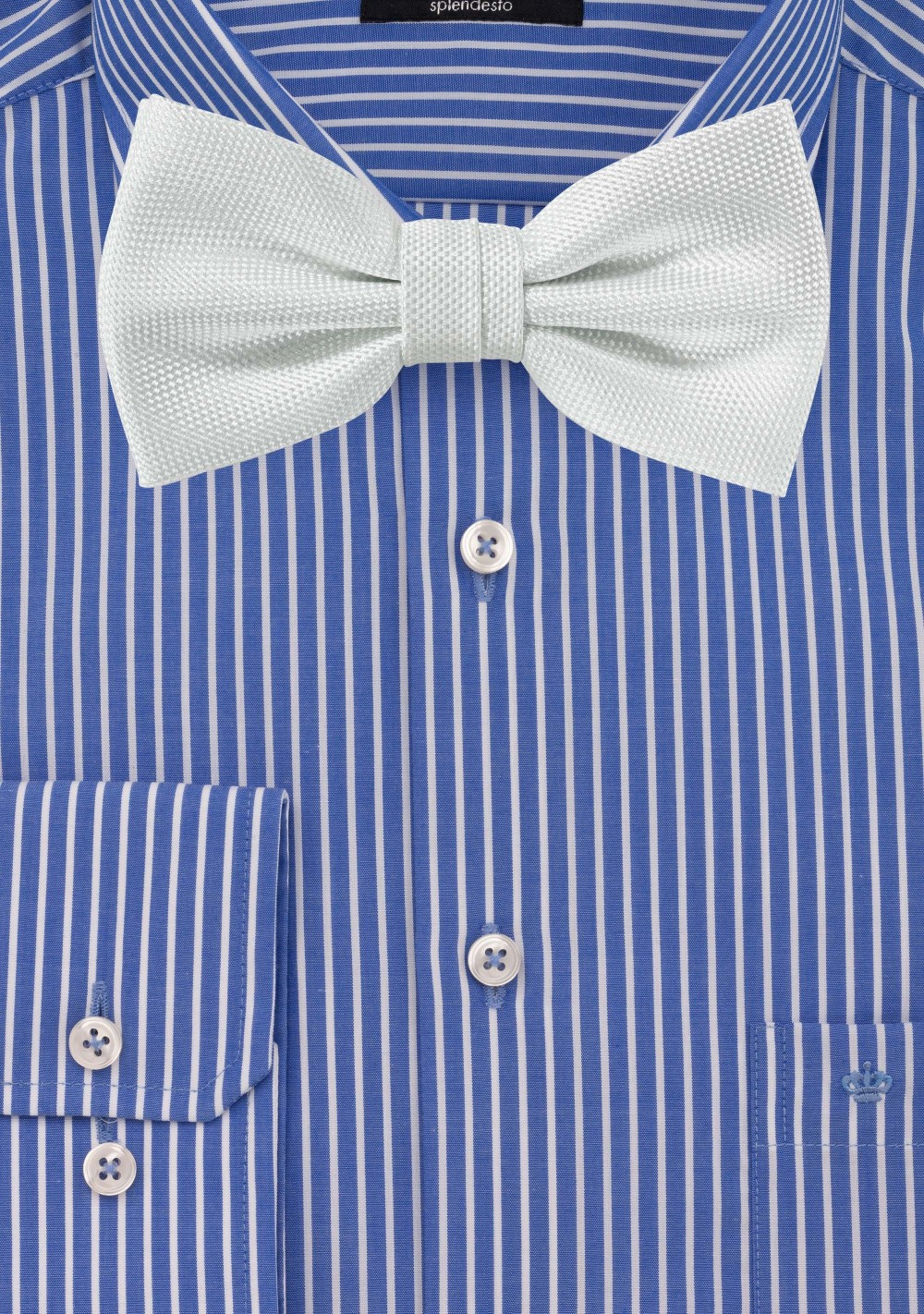 Ivory Textured Bow Tie