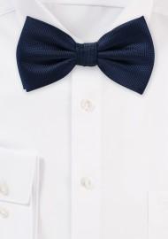 Navy Blue Mens Bow Tie in...