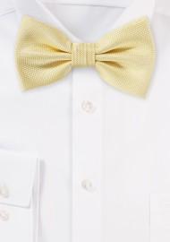 Pastel Yellow Textured Bow Tie