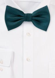 Textured Peacock Matte Colored Bow Tie