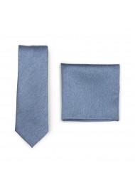 Steel Blue Skinny Tie Set
