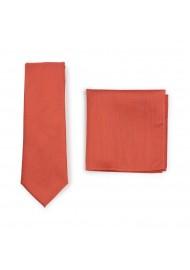 Matte Finish Autumn Tie Set in Cinnamon