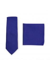 Skinny Tie Set in Ultramarine