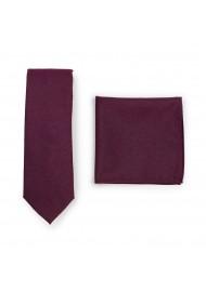 Burgundy Skinny Tie Set